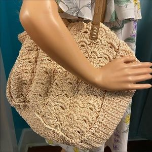 Straw studio straw purse